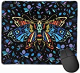Mauspad Multicolo Butterfly rutschfeste Gummibasis Verärgert wasserdichte Mausunterlage für Laptop, Computer, PC, Tastatur