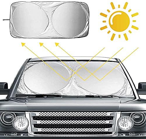 Ventdest Parasole Auto Parabrezza, Parasole per la Parabrezza Anteriore, Auto Protezione Parabrezza Protettore Contro i Raggi UV, Pieghevole e Portabile Parasole Parabrezza (160 x 86 cm)