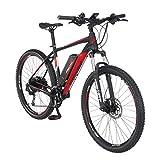 FISCHER E-Mountainbike EM 1726.1, E-Bike MTB, signalschwarz matt, 27,5 Zoll, RH 48 cm,...