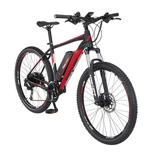 FISCHER E-Mountainbike EM 1726.1, E-Bike MTB, signalschwarz matt, 27,5 Zoll, RH 48 cm, Hinterradmotor 45 Nm, 48 V Akku