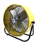 Maxx Air | Industrial Grade Air Circulator for Garage, Shop, Patio, Barn Use | 24-Inch High Velocity Drum Fan, Two-Speed