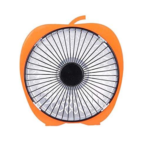 Eariy Mini calefactor eléctrico de invierno para escritorio, calefactor portátil, calefactor de aire eléctrico, ventilador caliente, tubo halógeno de 6 pulgadas, consideración inmediata (naranja)