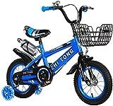 TTZY Los niños de Bici con Ruedas de Entrenamiento, niños y niñas con aleación de Pata de Cabra V-Brake y Corra hacia atrás Freno 7-4,16in SHIYUE (Color : 16in)