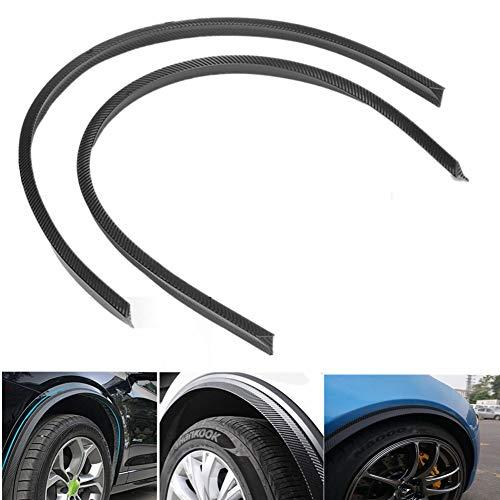 Keyzone 2 Stück Auto Kohlefaser Universal Radlauf Schutzleisten Kotflügel Verbreiterungen Leiste Gummi Streifen, 120cm