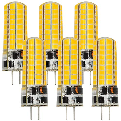 MENGS 6 Stück G4 6W LED Lampe Warmweiß 3000K AC/DC 12V 72x5730 SMD Mit Silikon Mantel
