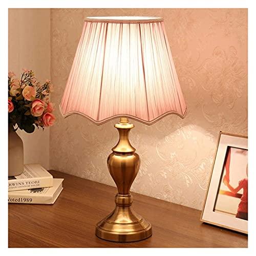 Lámpara de mesita de noche Lámparas de escritorio Cristal europeo de la cama de la cama de la cama de la cama de la cama de la cama de la habitación de la sala de estar de la casa de las decoraciones