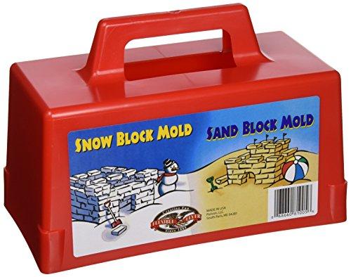 Flexible Flyer Snow Fort Building Block, Sand Castle Mold, Beach Toy Brick Form, 1 Mold (605)