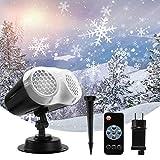 Luces Proyector Navidad LED, FOCHEA Proyector de Copos de Nieve Interior y Exterior Impermeable con Control Remoto para Halloween, Navidad, Fiesta