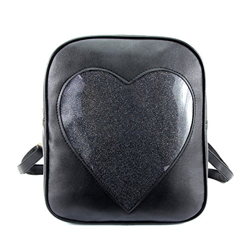 2019 Summer Candy Backpacks Transparent Love Heart Shape Pu Leather Bags Purse Lovely Ita Bag