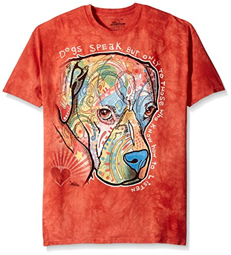 The Mountain Dogs Speak Adult T-Shirt, Orange, XL