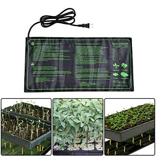 Hezhu Heizmatte Pflanzen 24 x 52 cm Anzucht Wärmeplatte Wärmematte Heizung 220V 18W CE-Zertifizierung