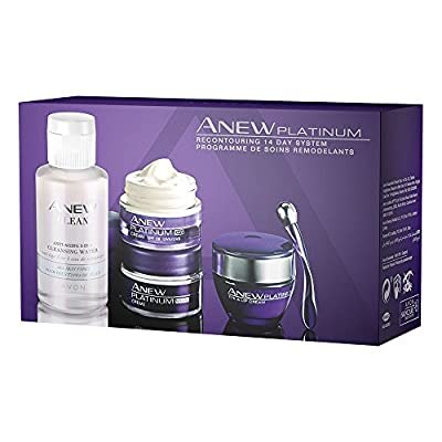 Avon Anew Platinum (60+) Skincare Kit - includes Day Cream, Night Cream, Eye Cream and 3-in-1 Cleanser Wate from Avon