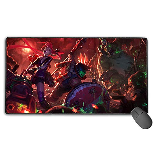 Extended Gaming Mouse Pad Large for League Legends Survival, Computer Keyboard Mouse Mat Stitched Edges for PC Computer Laptop 15.8x29.5 in(40cm X 75cm)