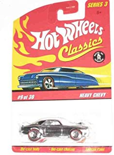 lassics Series 3 #9 Heavy Chevy Chrome 5-Spoke Redlines Collectible Collector Car 2007 Hot Wheels Mattel