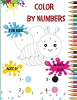 Color by numbers for kids: This Coloring Book is an Educational Activity Book for Kids Ages 3-8, Animal, Fruits, Vegetables Themed Coloring Pages