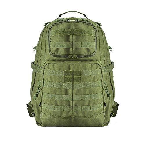 YAKEDA® Paket Wandern Tasche Outdoor Sports des Paket Camping-Camouflage Wasserdicht Camping Wandern Trekking Bag Outdoor Militärische Rucksäcke Klettern Rucksack–A88033, grün, 50 * 30 * 38CM
