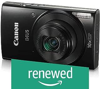 (Renewed) Canon IXUS 190 20 MP Digital Camera with 10x Optical Zoom, Memory Card And Camera Case (Black)