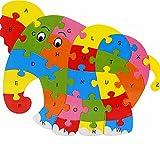 Skyeye Juguete Infantil de Madera Puzzle para Niños Rompecabezas Madera 26 Letras