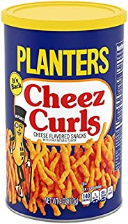 Planters Snack Puffs Cheese Curls (4 oz Canisters, Pack of 12)