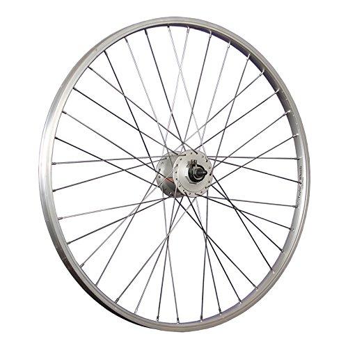 Taylor-Wheels 26 Zoll Vorderrad Büchel Alufelge/Nabendynamo DH-C3000-3N - Silber