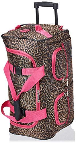 Rockland Rolling Duffel Bag, Pink Leopard, 22-Inch