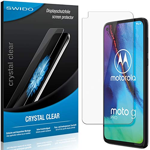 SWIDO Schutzfolie für Motorola Moto G Pro [2 Stück] Kristall-Klar, Hoher Festigkeitgrad, Schutz vor Öl, Staub & Kratzer/Glasfolie, Bildschirmschutz, Bildschirmschutzfolie, Panzerglas-Folie