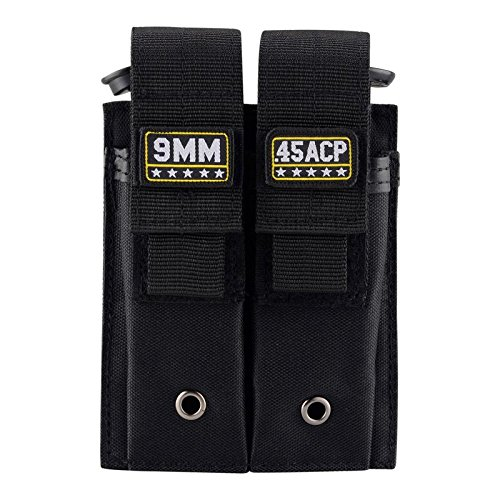 BOOSTEADY Molle Double Pistol Mag Pouch Single and Double Stack Magazine...