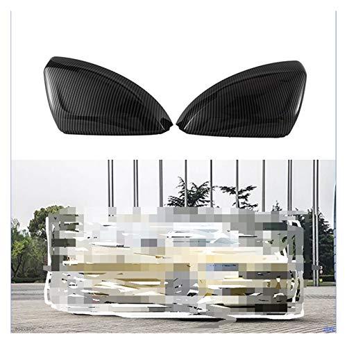 SHOUNAO Ajuste para Polo-Plus 2019-2020 Reemplazo Reemplazo Cubiertas De Espejo Coche Puerta Lateral Vista Trasera Espejo Cubierta Cap Cáscara Accesorios para Automóviles
