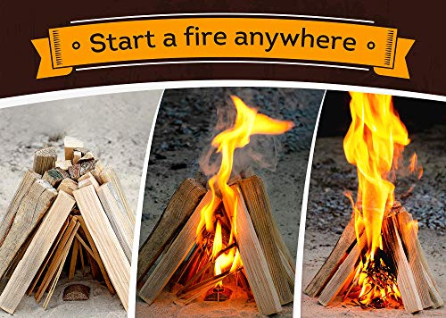 Fire Starters Box: kindling Wood Sticks + fire Starter logs (Similar fatwood) + Fat Wood Squares for Camping - Wood… 5