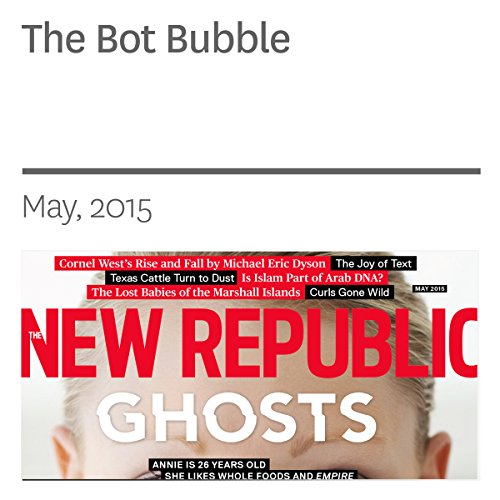 The Bot Bubble audiobook cover art
