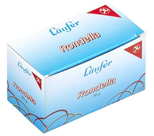 Preisvergleich Produktbild Läufer 51045 Rondella Gummibänder 100 X 5 mm,  Durchmesser 65 mm,  5 mm breite Gummiringe,  50g Schachtel
