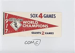 1917 Chicago White Sox (Baseball Card) 1961 Fleer Baseball Greats - World Series Pennant Decals #1917
