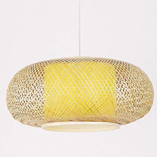 CSSYKV Lámpara De Araña Tejida De Bambú De Estilo Japonés Linternas De Bambú Creativas Lámpara Colgante De Techo Tejida De Bambú Hecha A Mano Para Accesorios De Iluminación Decorativos En Pasillos Y B