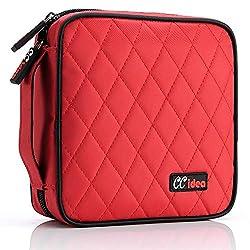 cheap CCidea 40 Capacity CD / DVD Case Portable Disc Wallet Storage Folder Nylon CD Pouch (Red)