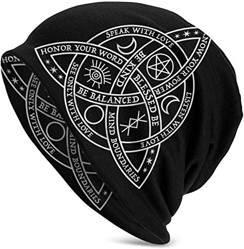 FuQiBasics Winter Beanie Hats Good Witch Celtic Knot Beanie Knit Hat for Men Women Warm Cozy Knitted Cuffed Skull Caps