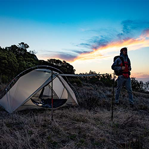 Naturehike VIK 1 Person Ultralight 4 Season Backpacking Tent with Footprint - 15D Lightest Portable Tent for Camping Hiking with Carry Bag
