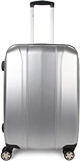 """Carry On Luggage 20"""" PC + ABS Lightweight Cabin Hardside Trolley Case with Spinner Wheels TSA Lock Sliver"""