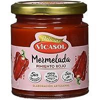 Vicasol Mermelada de Pimiento Rojo - Paquete de 12 x 250 gr - Total: 3000 gr
