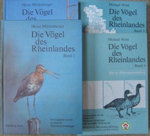 DIE VÖGEL DES RHEINLANDES - 4 Bände: BAND 1: Seetaucher - Alkenvögel (Gaviiformes - Alcidae), BAND 2: Papageien - Rabenvögel (Psittaculidae - Corvidae), BAND 3: Atlas zur Brutvogelverbreitung, BAND 4: Atlas zur Wintervogelverbreitung
