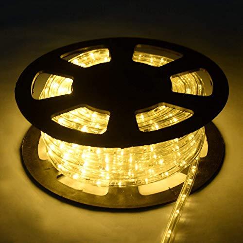COSTWAY 30M Luz Manguera 1080 LED Luces de Navidad Fiesta Jardín Hogar Decoración para Exterior Interior (blanco cálido)
