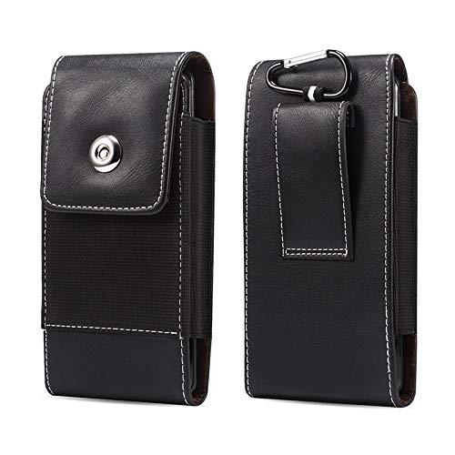 SZCINSEN Funda de cintura para iPhone SE2002/11 Pro/XS 8 7 6, funda de cuero vertical para cinturón de Samsung S10e/S9/S8/S7/S6 Edge