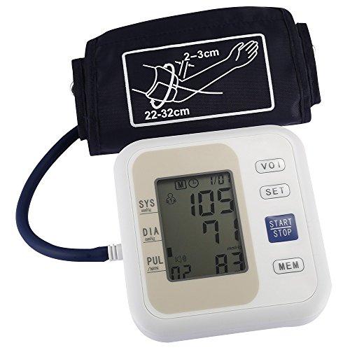 XSQRXYQ Monitor de presión Arterial Profesional Estilo de Brazo Superior Presión Arterial electrónica Pantalla LCD Pulso diastólico sistólico Cuidado de la Salud