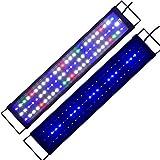 Lámpara de acuario LED iluminación del acuario azul blanco rojo verde espectro completo Luz LED planta de peces de coral para agua de mar de agua dulce (60 cm)