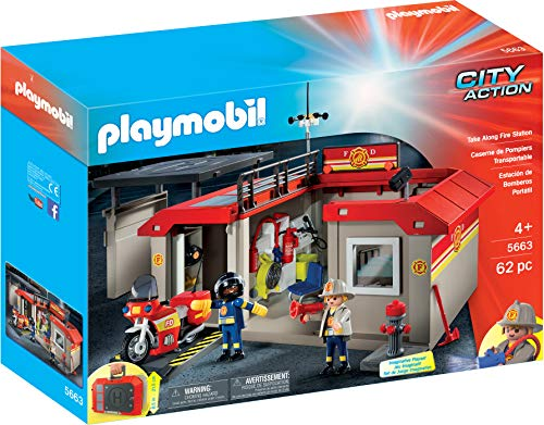 Playmobil Exclusive City Action Take Along Fire Station