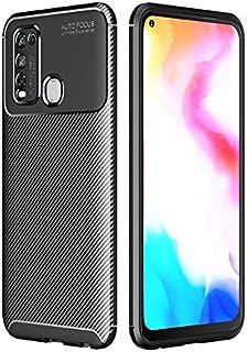 VIVO Y50ケースについて、耐震性TPUケース、超薄型ソフトラバー炭素繊維テクスチャフルボディの保護裏表紙についてはVIVO Y50アンチ落ちます (Color : Black)