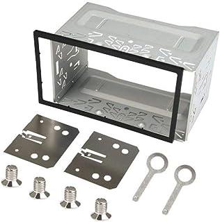 Autoradio Doppel ISO 2 DIN Einbaurahmen, Metal Eisen Einbauschacht, Universal für Autoradio Radio DVD Player GPS Navigation