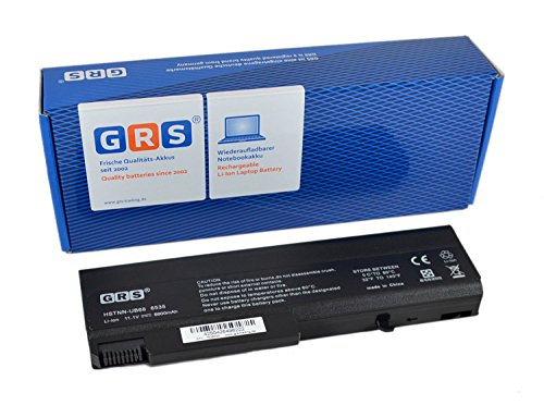 GRS Batterie avec 6600mAh pour HP ProBook 6550b 6540b 6545b 6445b 6555b 6450b 6440b 8440w EliteBook 6930p 8440p 8570p 8740p Business Notebook 6730b 6735b 6535b remplacé: AT908AA, 482962-001