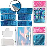 Nail Stamping Plates Kit with 20 Stainless Steel Nail Plates and Bag