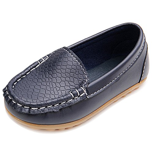 BENHERO Baby Boys Girls Oxford Shoes Soft Sole PU Leather Moccasins Infant Toddler First Walkers Crib Dress Shoes Sneaker (0-6 Months Infant),F-Navy