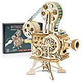 DIY 3D Vitascope Wooden Puzzle Kit | Vintage Mechanical Film Projector Model Kit for Adults DIY Construction | LK601